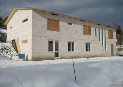 Nybyggt hus i lättbetong